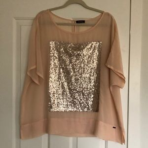 MBLM sheer blouse with sequin detailing